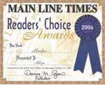 Readers Choice Award - 2006