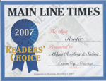 Readers Choice Award - 2007